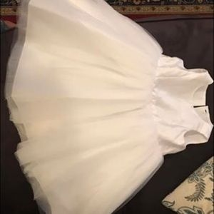 David's bridal white flower girl dress 2T